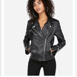 Express Jackets & Coats - Express vegan leather quilted Moto jacket